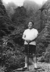 Deng Xiaoping, Chinese communist leader in the People's Republic of China from the late 1970s until his death in 1997. (caijsa's postcards) Tags: blackandwhite china people traditions men