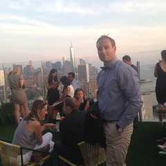 On the roof of The Standard!