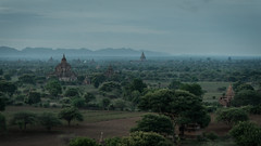 Bagan at Dawn (5AAAAM) Tags: old morning travel sun tree art field sunrise landscape asian temple dawn pagoda landscapes ancient nikon asia landmark scene temples land fields myanmar rise scape goodmorning scapes pagodas bagan d600 oldbagan nikond600