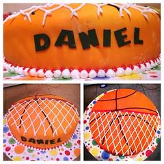 Basketball cake by Amber, Framingham, MA, www.birthdaycakes4free.com