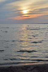 Lake Oneida Sunset 3 (~Maninas) Tags: sunset summer sky usa sun lake ny water nikon colours july newyorkstate oneida 2014 maninas lakeoneida d5100 july2014