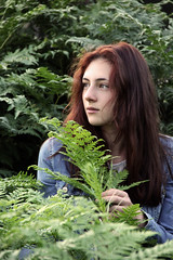 . (alexandra.nikishina) Tags: portrait people fern green girl canon