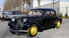Citroën Traction Avant 7C 1940 (XBXG) Tags: dy713ld citroën traction avant 7c 1940 citroëntractionavant tractionavant ta 7 c noir black 30ème salon des belles champenoises époque reims marne 51 grand est grandest champagne ardennes france frankrijk vintage old classic french car auto automobile voiture ancienne française vehicle outdoor