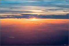 The Land Below (mikeyp2000) Tags: sky aerial sunset cloudscape clouds