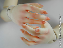 Eva's manicure and pedicure (www.facebook.com/indigomaiden/) Tags: indigomaiden manicure pedicure faceup body blushing bjd ball jointed dolls beyours sd