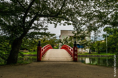 Red bridge in Hirosaki pt. 4 (lpvisuals.com) Tags: 2016 a7ii temple castle fe hirosaki japan nippon palace sony zen garden streets water peace