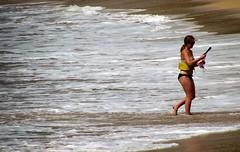 Snorkeling area (thomasgorman1) Tags: water tide sea snorkeling woman person beach lanai hawaii