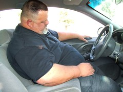BIG boy asleep in car closer (I.E. Bear II) Tags: random handsome sexy guapo barrigon chub chubby thick stocky hot big fat man guy dude bear bubba pansa panza panzon panson gordo moobs belly beerbelly bellies gut hairy furry