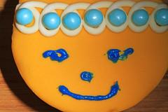 Hostess Cupcake, decorated (judygva) Tags: macromondays orangeandblue