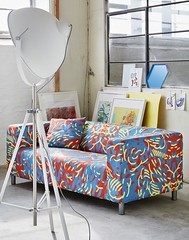 Line Klippan Covers by Artefly (arteflycom) Tags: ikea klippan covers slipcovers sofa couch 2 seater settee pillow cushion line color red yellow blue cotton artefly modern design style home decor