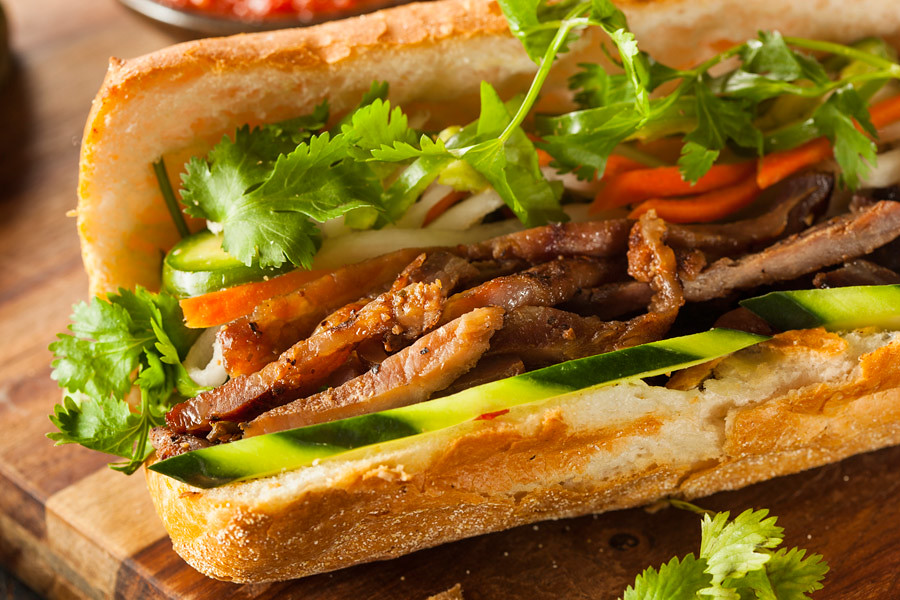 Vietnamese banh mi or sandwich is a popular snack