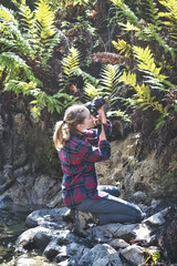 Hannah (Nathan Wickstrum) Tags: santa monica mountains rancho sierra vista hannah garcia ferns waterfall