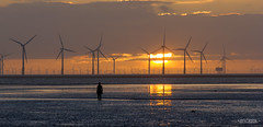 A Spoilt View (Carl Yeates) Tags: sea orange turbines windfarm sun sunset merseyside liverpoolbay crosby canon550d