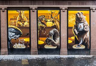 Glasgow Street Art Animals