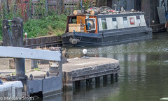 Home Afloat 2 (M C Smith) Tags: lea narrowboat moored banks lock bridge grass weeds home pentax