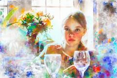 2017 - aquarelle (bDom [+ 3 Mio views - + 40K images/photos]) Tags: bdom aquarelle fillette enfant portrait watercolor