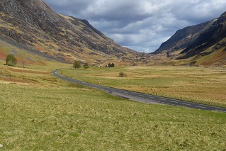 The Scenic road of Glen Coe