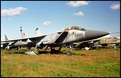 202 blue - Monino Museum 20.08.2001 (Jakob_DK) Tags: 2001 monino centralrussianairforcemuseum sovietairforce mikoyan gurevich mikoyangurevich mig mig31 foxhound