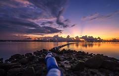 Sunrise At Sembawang Beach (jaywu661) Tags: sony singapore skyline sky sea seascape sunrise sonya7r sony1635mm sembawang rocks clouds cloudy landscape dawn outdoor ocean longexposure nisi filter inexplore explore asia