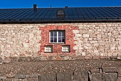 Three Windows On A Brick Wall (k009034) Tags: 500px city spring travel old architecture roof building brick wall stone three windows frame no people lappeenranta finland tranquil scene copy space destinations teamcanon