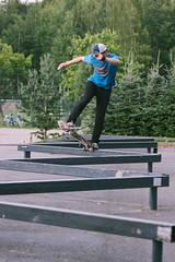Niko Ojanen - Fs Bluntslide (Juha Helosuo) Tags: skateboarding finland rail slide frontside fs blunt bluntslide style niko ojanen skateboard rolling skate spot