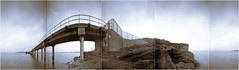 Hunterston Pier side by side (wheehamx) Tags: side by pinhole 360 island pano panoramic