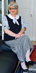 Ingrid024049 (ingrid_bach61) Tags: pleatedskirt faltenrock waistcoat weste blouse bluse mature