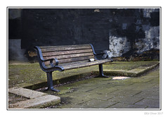 Was It Worth It (Seven_Wishes) Tags: newcastleupontyne jo outdoor photoborder city street canoneos5dmarkiv canonef24105mmf4lisii westmorlandroad seat winebottle sick lowkey textures pavingstones blossom citystreets dark