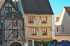 Noyers, Burgundy (surreydock) Tags: old france ancient timberframed colombages burgundy yonne eu europe noyers house picturesque
