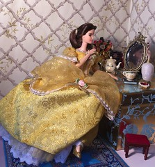 A Grand Night Ahead (MaxxieJames) Tags: belle beauty beast disney princess doll mattel barbie mrs potts chip plumette enchanted objects hasbro mirror ballgown object palace friends custom