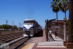 2014-09-01 Fullerton CA AMTK458 F59PHi (gravelydude1966) Tags: train railroad locomotive emd electromotive f59phi amtrak amtk amtk458 fullerton california surfliner passenger commuter