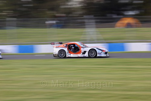 Dan Kirby in the Ginetta GT4 Supercup during the BTCC Weekend at Donington Park 2017: Saturday, 15th April