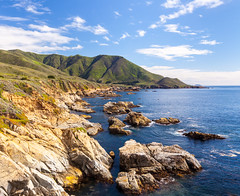 Monterey Coastline, California (russellstreet) Tags: water california sky montereycounty unitedstatesofamerica bluesky cloud usa