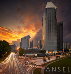 Paprika (draken413o) Tags: singapore pan pacific millenia sunset epic light architecture skyline skyscrapers urban places scenes amazing wow canon 17mm tse vertorama asia travel destinations