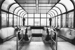 U-bahn snapshot #13 (desomnis) Tags: vienna urban monochrome blackandwhite blackwhite lines architecture austria österreich wien ubahn streetphotography modernarchitecture station subwaystation ricohgr ricoh ricohgrdigital desomnis symmetric symmetry