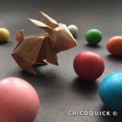 Origami Time! 16/53 Rabbit by Jun Maekawa #おりがみ #中國 #二本 #日本 #대한민국 #兎 #復活祭 #Origami #Paper #Foldedbyme #Foldoftheday #Instaorigami #Spring #ElParaiso #Sunday #April #16 #2017 #Caracas #Venezuela #chicoquick (chicoquick) Tags: おりがみ 中國 二本 日本 대한민국 兎 復活祭 origami paper foldedbyme foldoftheday instaorigami spring elparaiso sunday april 16 2017 caracas venezuela chicoquick