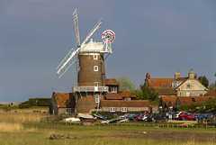 Cley Windmill (Kev Gregory (General)) Tags: cley windmill grade ii listed tower mill next sea norfolk england which has been converted residential accommodation built early 19th century ownership farthing family dorothy miller stephen barnabas burroughes holt inherited by lieutenant colonel hubert blount county council pilgrim trust son charles father singer james blunt child cap gallery sails fantail renewed english heritage millwrights john lawn bond kev gregory canon 7d