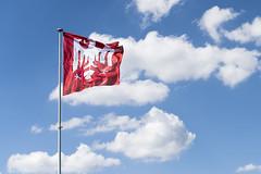 Annecy - Movimiento (MaríaJCM) Tags: annecy bandera cielo movimiento nubes parque