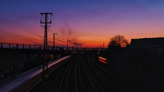 Sonnenaufgang heute morgen auf der Dorstfelder Brücke 🌅 (Christian Passi - Steher82) Tags: rail railway schiene sunset sunrise dortmund sonya6000 a6000 sel1650 outdoor deutschebahn germany bahn way sky cloud himmel nature natur photo photography vsco ruhrpott ruhrgebiet work april
