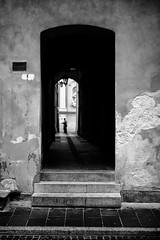 Portal (michael.mu) Tags: leica m240 50mm noctilux leicanoctiluxm50mmf095asph warsaw warszawa portal doorway pathway staremiasto oldtown blackandwhite bw monochrome silverefexpro poland