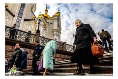 Orthodox Easter in occupied Donetsk (Roman Lunin) Tags: easter easternukraine donbass donetsk ukraine orthodox church christianity elderly religion reportage documentary street journalism