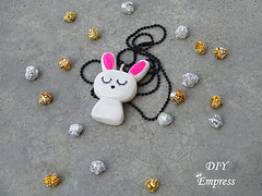 How to make a cute easter gift basket with DIY easter gifts 29 (DIY Empress) Tags: diy easter easterdiys happyeaster cute eastergifts giftbasket howto tutorial beautiful bunnies easterbunnies bunny blogger inspiration make basket bunnykeychain keychain necklace polymerclay mseal creativityfound pompom