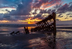 Peter Iredale Shipwreck at Sunset (Cole Chase Photography) Tags: oregon pacificnorthwest shipwreck peteriredale coast sunset