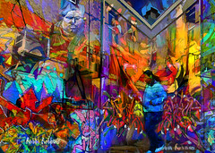 Another Community (brillianthues) Tags: city urban street badlands philadelphia graffiti colorful collage photography photmanuplation photoshop