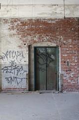 (Valerie Giacobbe) Tags: brick abandoned philadelphia graffiti nikon pennsylvania elevator warehouse pa philly d5100 nikond5100