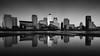 Reflected (vulture labs) Tags: blackandwhite bw london art monochrome skyline architecture reflections skyscrapers monotone monochromatic reflected canarywharf bwlondon vulturelabs