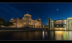 Reichstag (Blitzknips) Tags: longexposure berlin architecture germany landscape deutschland cityscape reichstag spree landschaft nachtaufnahme a77 regierungsviertel berlinmitte spreebogen marieelisabethlüdershaus sonya77