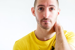 (Damien Cox) Tags: uk portrait selfportrait man male me yellow self ego myself beard nikon masculine tshirt moi autorretrato scruff stubble i damiencox dcoxphotographycom