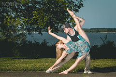 Lisanne & Norbi (JugglerNorbi) Tags: girl dance dress circus duo strong partner flexible