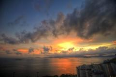 Radiant (Martin W. Photography) Tags: china sunset sea dynamic fu      villassouth highdynamichigh rangepokfulampok lamrangehongkonghong kongcloudsblueredskyscenic